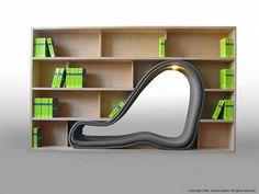 Prateleiras criativas para livros e para espaços pequenos (+ info, clique na foto)