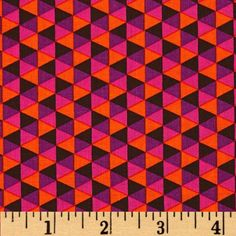 Michael Miller Norwegian Woods Polygon Cocoa from @fabricdotcom  Designed for Michael Miller, this cotton print fabric is perfect for quilting, craft projects, apparel and home décor accents. Colors include cocoa, purple, hot pink and orange.