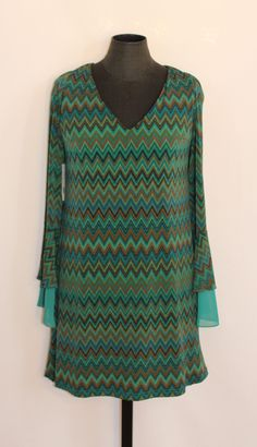 awesome JUDITH MARCH CHEVRON PRINT DRESS NEW WITH TAGS