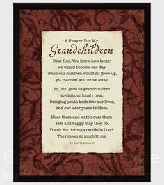 A Prayer For My Grandchildren Wall Plaque