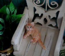 OOAK Realistic ~ Kitten ~ Dollhouse Miniature 1:12 Handmade Sculpture