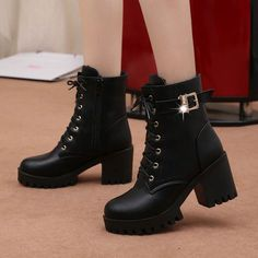 Boots Lace Up Flat Biker Combat Wine Red Boots Shoes Buckle Martin Boots - BeFas. - Boots Lace Up Flat Biker Combat Wine Red Boots Shoes Buckle Martin Boots – BeFashionova Source by - Cute Shoes, Women's Shoes, Shoe Boots, Ankle Boots, 90s Shoes, Pink Shoes, Aldo Shoes, Shoes Style, Golf Shoes