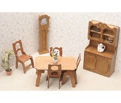 Dollhouse Décor - Greenleaf Dollhouse Furniture Kit Dining Room *** Learn more by visiting the image link.
