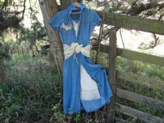 Shabby chic gypsy bohemian boho vintage jean lace by SummersBreeze
