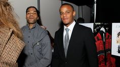 Joleon Lescott and Vincent Kompany at Fashion Kicks 2012