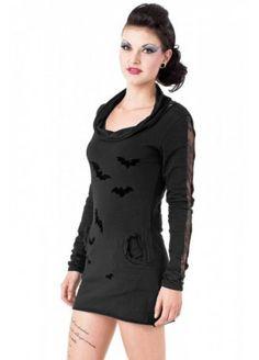 Queen of Darkness Velvet Bat Net Dress, £27.99