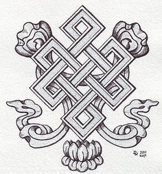 The endless knot, also called mystic or love knot, is a feng shui symbol representing never-ending love and unity among family members in Chinese culture. (Photo credit: Wikipedia)