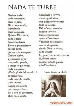 Oracion de Nada te Turbe - Santa Teresa de Avila