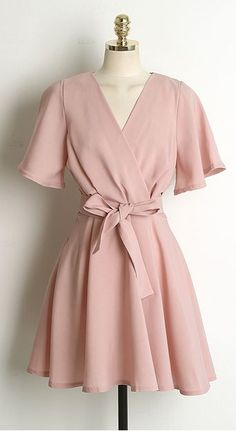 Wide-sleeves Frill Dress OPS-ST