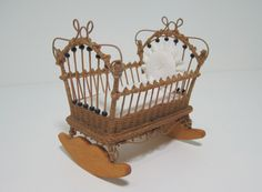 MADE TO ORDER Miniature Wicker Cradle for by Wickerville on Etsy