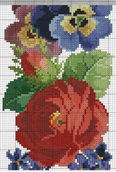 ru / Фото - a - kento / Flower border Cross Stitch Borders, Cross Stitch Flowers, Cross Stitch Designs, Cross Stitching, Cross Stitch Patterns, Blackwork Embroidery, Embroidery Patterns, Cross Stitch Embroidery, Rico Design
