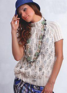 Пуловер с пальмой