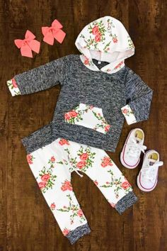 US Stock Newborn Infant Baby Girls Hoodie Tops Floral Pants Clothes Outfits Set, , Baby Girl Fashion, Baby Outfits Newborn, Baby Girls, Baby Girl Newborn, Toddler Outfits, Baby Boy Outfits, Toddler Girl, Baby Gap, Baby Girl Fashion, Kids Fashion