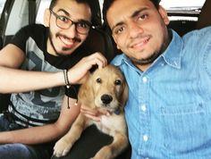 Magdyy alsadek ala5ooooo #friends #like #brothers #day #fun #golden #dog by mostafaabdalglil7