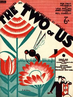 The two of us, 1926 (ill.: Roger De Valerio) illustrated art deco sheet music