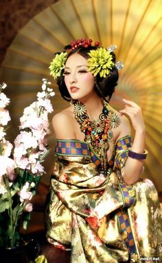 Flowers/  Chinese style dress <3