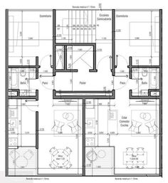 Family House Plans, Best House Plans, Modern House Plans, Apartment Layout, Apartment Design, Home Design Plans, Plan Design, Architecture Plan, Residential Architecture