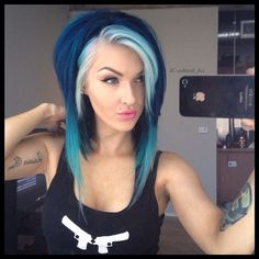 I wouldn't do this, but this is the best blue hair I've ever seen