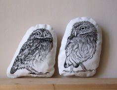 decorative owls room decor black and white set of 2 door MosMea, €36.00