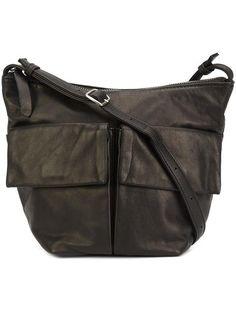 YOHJI YAMAMOTO 'Flap Pouch' crossbody bag. #yohjiyamamoto #bags #shoulder bags #leather #crossbody #