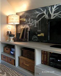 Kids school area idea.. love the chalkboard