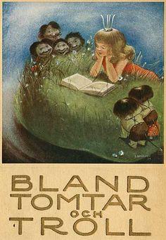 """Bland Tomtar och Troll"" illustrated by Einar Norelius Elsa Beskow, Swedish American, Fairytale Fantasies, Children's Book Illustration, Goblin, My Childhood, Gnomes, Illustrators, Folk Art"
