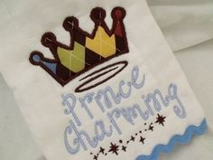 Machine Embroidery applique Design  Prince charming by Embroitique, $3.99