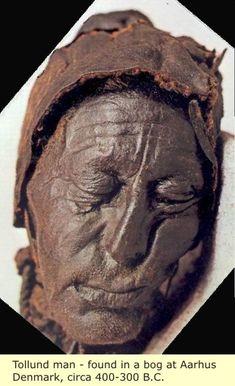 Tollund Man found in a bog at Aarhus, Denmark, circa 400-300 BC, wow amazing!
