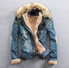 2013-Mens-winter-warm-fur-collar-fur-lining-denim-jacket-coat