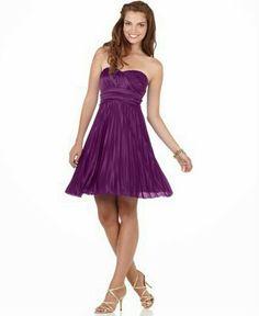 Multinotas: Vestidos Cortos, Color Purpura