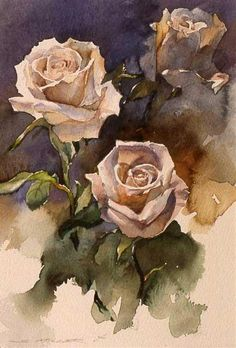 """Stan's Roses"" Water Colour : Stan Miller,"