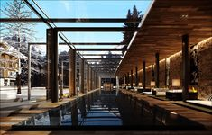 The Chedi Andermatt Glass Enclosed Pool #WorldsBestHotels2014