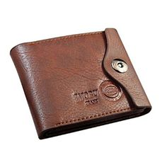 Wallet Men PU Leather Credit / ID Card Holder Slim Purse wallet Coffee #Affiliate