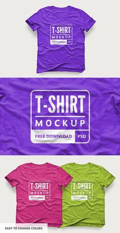 Mockup your t-shirt designs in style with this free unisex, color tee mockup by @medialoot. Simply place your artwork into the included Smart Object and save to update the template, you can also change the color of the clothing via a Hue/Saturation adjustment layer.