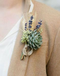 @curiouscountry posted to Instagram: Get inspired for your weddings and special events! Order natural dried wheat and French lavender to DIY these amazing succulent boutonnieres. Show us what you create by tagging @curiouscountrycreations in your photos!⁣ ⁣ #driedflowers #flowerlovers #homedecor #floraldesign #flowerarrangement #diyhomedecor #diycrafts #flowers #weddinginspo #weddingreception #receptionideas #bohowedding #weddingideas #weddingdecor #weddingbouquet #bridetobe #bridalbouquet #we