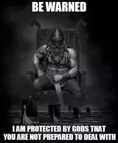 Be warned...I am protected by Gods you are not prepared to deal with...Protected by the Æsir #Vikings #Asatru