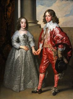 William II, Prince of Orange, and his bride Mary Stuart, by Anthony van Dyck, 1641