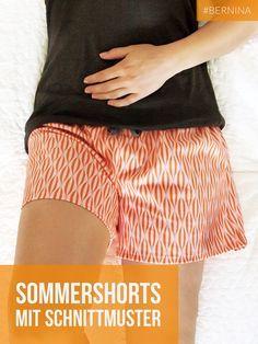 Shorts zum Selbernähen, mit kostenlosem Schnittmuster zum Download, Gr. 36-46, sew your Summer Shorts, free pattern download, size 8 - 16