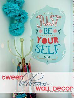 Eye Candy Creative Studio: HOME|MADE :: Tween Bedroom Wall Decor