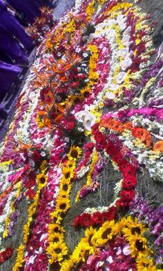 #Alfombra de Flores y Pino. Procesión de San Bartolo. Antigua Guatemala.