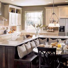 Love this kitchen layout.