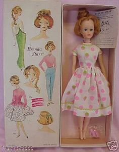 box doll with dress. Repinned from another MA board! Dont know if this belongs to Brenda or not