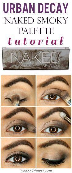 Urban Decay Naked Smoky Palette Tutorial Awesome and easy smoky eye with the Urban Decay Naked Smoky palette! Eye Makeup Tips, Skin Makeup, Makeup Eyeshadow, Makeup Brushes, Makeup Ideas, Makeup Tutorials, Drugstore Makeup, Cosmetic Brushes, Eyeshadow Primer