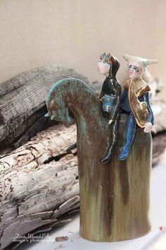 """O DWÓCH TAKICH CO WYBZYKALI NIEBO - rzeźba ceramic w Studio Rzeźby i Ceramiki Unikatowej """"Cela37"""" na DaWanda.com"""