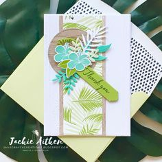 Tropical Escape DSP this pack of 48 sheets is part of the Buy 3, get 1 FREE promo #stampinup #makeacardsendacard #jaxxcraftycreations…