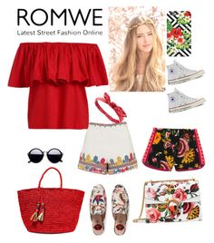 """""""#ROMWEruffledtop"""" by steffyyeah ❤ liked on Polyvore featuring Gucci, Topshop, Converse, Charlotte Russe and Sensi Studio"""