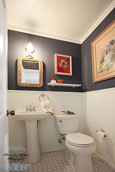 green and white bathroom navy blue paint white tile bathroom search 18568