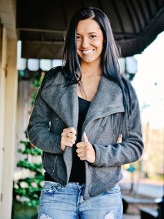 Grey Crop Zipper Jacket - $36.00 : FashionCupcake, Designer Clothing, Accessories, and Gifts