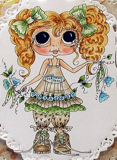 Bestie close-up by Patricia St Martin... see entire card in her blog post