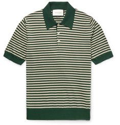 GucciSlim-Fit Striped Cotton and Cashmere-Blend Polo Shirt